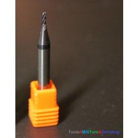 Schaftfräser Micro VHM Ø1,5mm 4F-D1,5x4x6x50 AlTiN