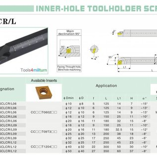 Bohrstange S16Q-SCLCR 09 für Innendrehen