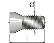 metrisches ISO-Gewinde M2