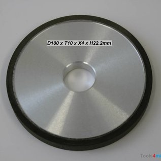 Diamantschleifscheibe D100 x T10 x X4 x H22,2mm Form RW100 1A1