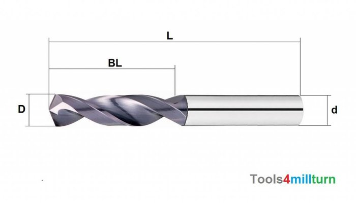 Spiralbohrer VHM Ø10.00mm