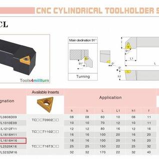 Drehmeißel zum Außendrehen STGCL 1616 H16