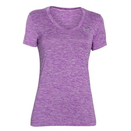 Under Armour Dames Hardloopshirt Tech Twist met V-hals - Paars