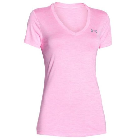 Under Armour Dames Hardloopshirt Tech Twist met V-hals - Pink