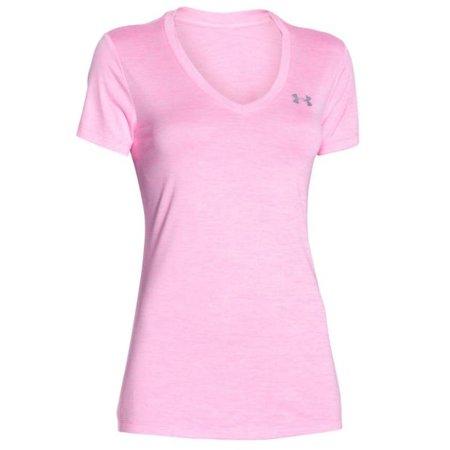 Under Armour Dames Hardloopshirt Tech Twist met V-hals - Pink