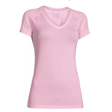 Under Armour Dames hardloopshirt korte mouw HeatGear® Armour - lichtroze