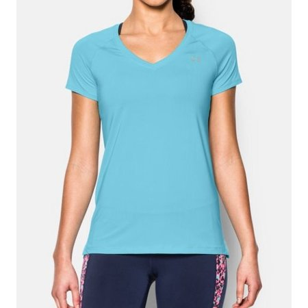 Under Armour Dames hardloopshirt korte mouw HeatGear® Armour - blauw