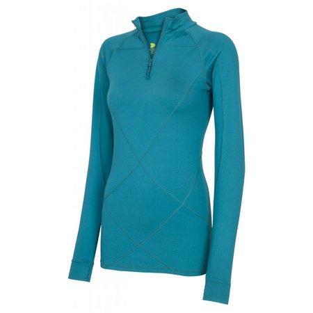 Pure Lime Dames shirt Intense 1/2 zipper petroleum