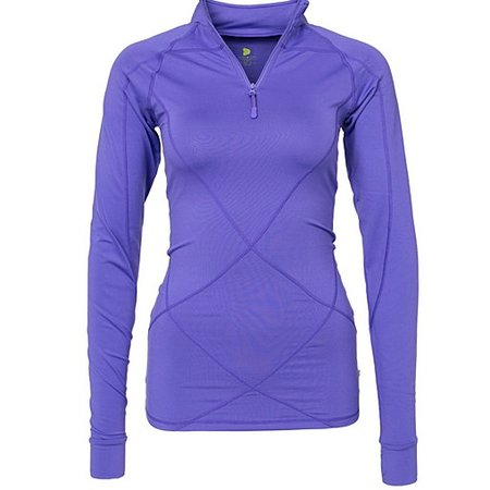 Pure Lime Dames hardloopshirt Intense 1/2 zipper paars