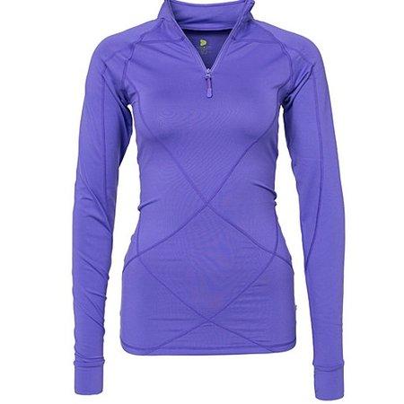 Pure Lime Ladies running shirt Intense 1/2 zipper purple