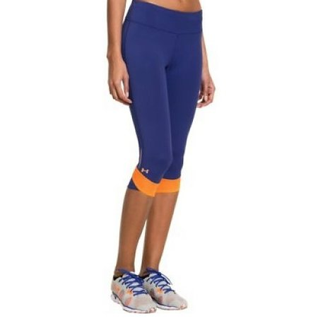 Under Armour Dames hardloopbroek Fly By Compression Capri blauw