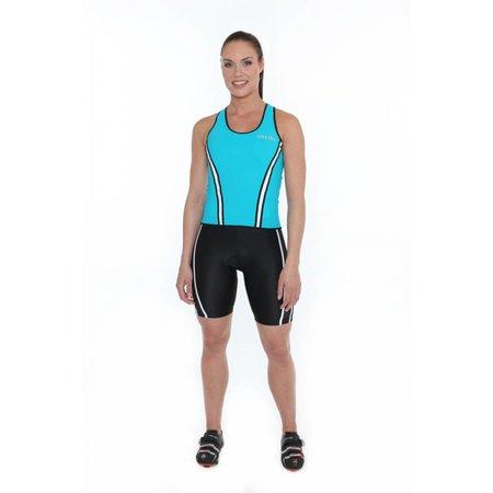 Zero RH+ Dames Fietsshirt dames Revo W Top Blauw/Turquoise -