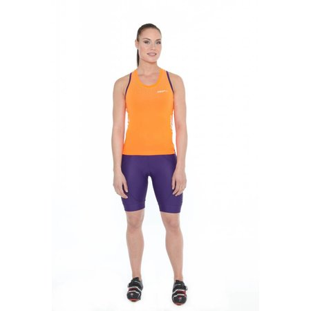 Craft Dames Fietsshirt tank top dames Glow singlet oranje