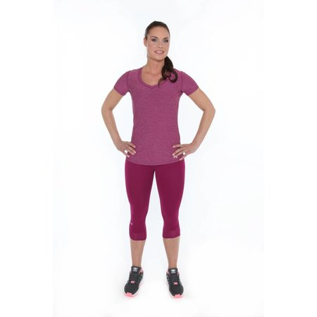 Under Armour Dames Hardloopshirt Perfect Pace Tee Aubergine