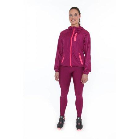 Under Armour Dames hardloopjack HeatGear Qualifier Woven Jacket Aubergine