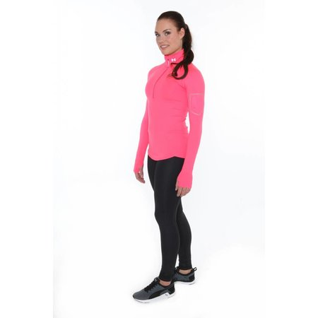 Under Armour Ladies Running Shirt Fly Fast half zip pink