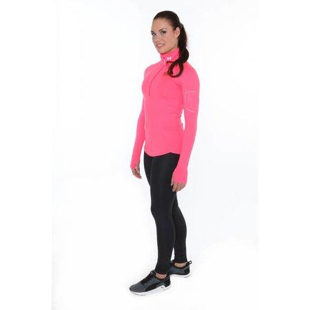 Under Armour Ladies Running Shirt Fly Fast half zip pink