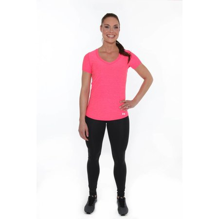 Under Armour Dames Hardloopshirt Perfect Pace Tee Roze
