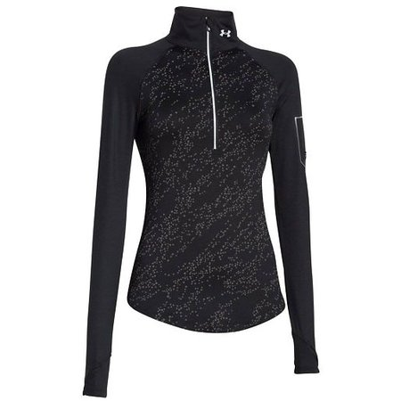 Under Armour Ladies Running Shirt Fly Fast Luminous 1/2 zip black