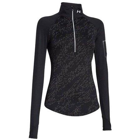 Under Armour Ladies Running Shirt Fly Fast Luminous 1/2 zip black
