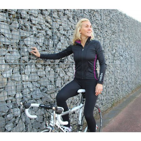 Zero RH+ Combi voordeel: Dames fietsjack Windstopper Breeze W Wind + fietsbroek Ergo W tight cherry