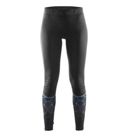 Craft Dames hardloopbroek zwart/blauw