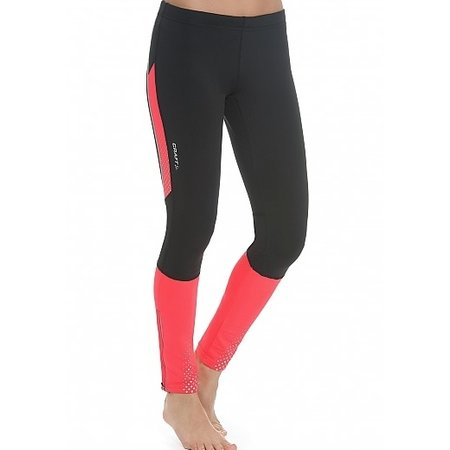 Craft Ladies running shorts Brilliant Thermal tight black / pink
