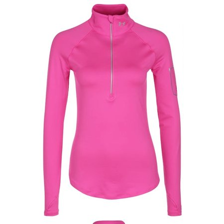 Under Armour Women's Running Shirt Fly Fast 1/2 zip bright pink