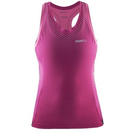Craft Dames Fietsshirt tank top dames Glow singlet roze