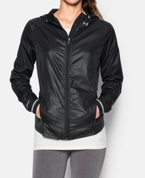 160c266d7 ... Under Armour Ladies running jacket Storm Layered Up jack Black ...