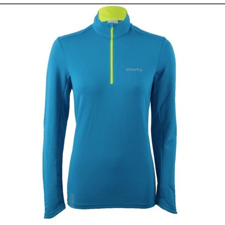 Craft Dames hardloopshirt Facile Halfzip blauw
