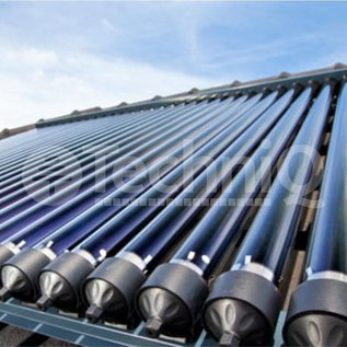 TechniQ Energy 18 heatpipe vacuümbuis zonneboiler collector, inclusief plat of schuin dak constructie