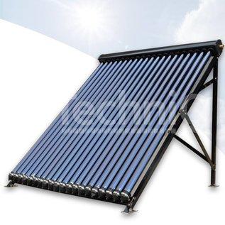 TechniQ Energy 30 heatpipe vacuümbuis zonneboiler collector, inclusief plat of schuin dak constructie