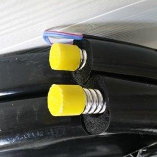 TechniQ Energy 5 Meter dubbele, met EPDM geïsoleerde, RVS ribbelslang met geïntegreerde sensor draad