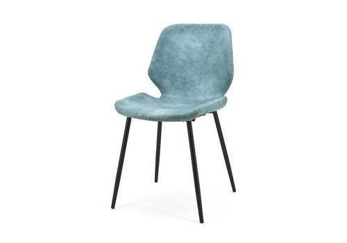 By-Boo Eetkamerstoel Seashell Blauw - 46x58xH84 cm