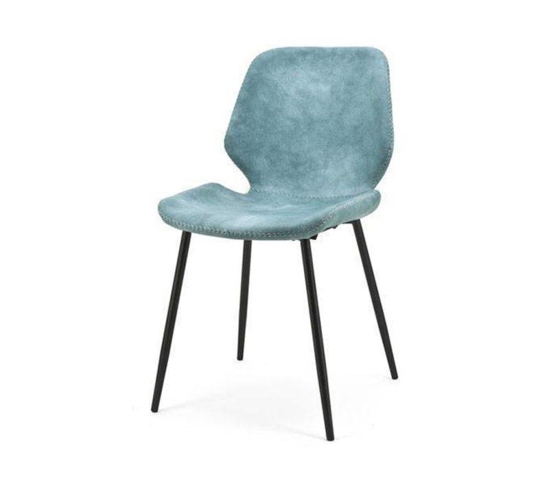 Eetkamerstoel Seashell Blauw - 46x58xH84 cm