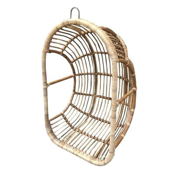 Rotan Hangstoel Buiten.Hangstoel Egg Rotan Naturelkleur 78x62xh118 Cm Houss Nl
