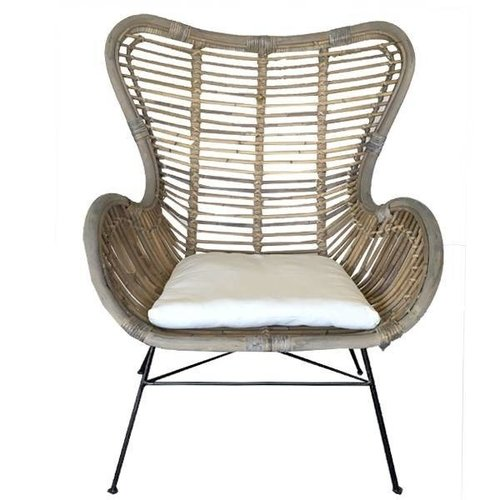 Sweet Living Egg Chair Rotan - 70x76x90 cm