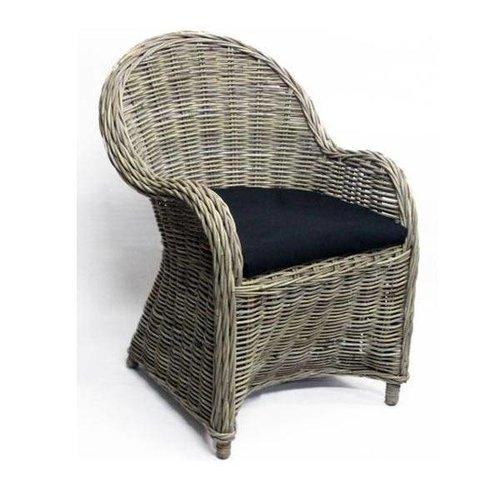 Sweet Living Antique Grey Rotan stoel - 63x63xH89 cm