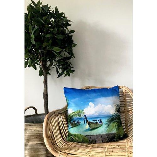 Sweet Living Naturel Kuipstoel Rotan - 69x67xH79 cm