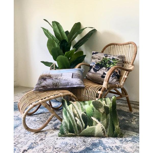 Sweet Living Naturel Rotan Loungestoel - 67x80xH86 cm