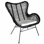 Sweet Living Rotan Egg Chair Zwart - 70x76x90 cm