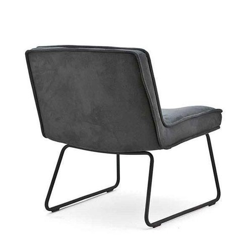 By-Boo Montana Fauteuil Antraciet - 66x70xH78 cm