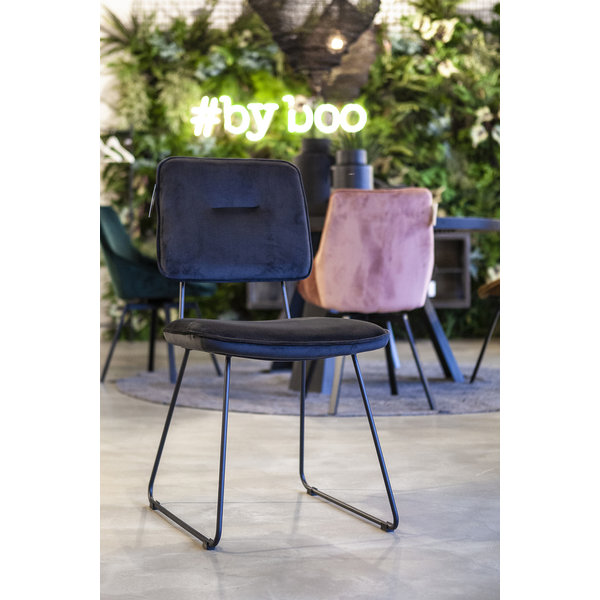 By-Boo Whip Eetkamerstoel Donkergrijs - 59x47xH88 cm
