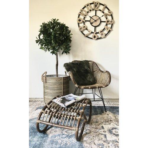 Sweet Living Kuipstoel Tess Rotan - 65x55xH80 cm