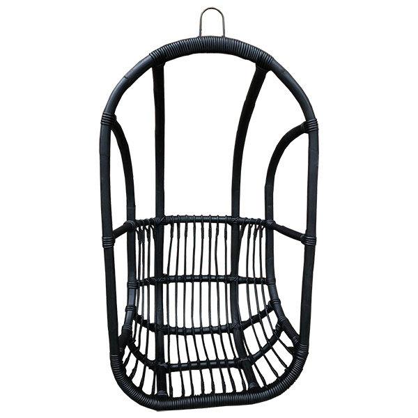 Rotan Hangstoel Buiten.Zwarte Rotan Hangstoel 67x63xh125 Cm Houss Nl