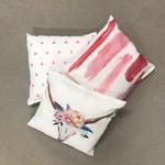 Sweet Living Vierkant Sierkussen Pink Paint