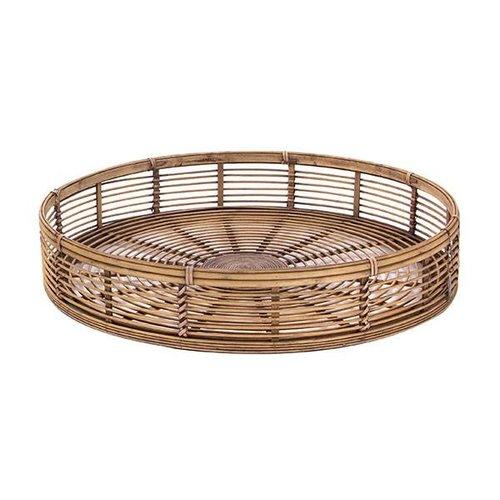 Sweet Living Dienblad Rond Bamboe - Ø62xH11 cm