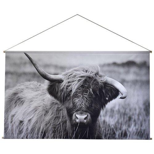 Sweet Living Schoolplaat Schotse Hooglander - 150xH90 cm