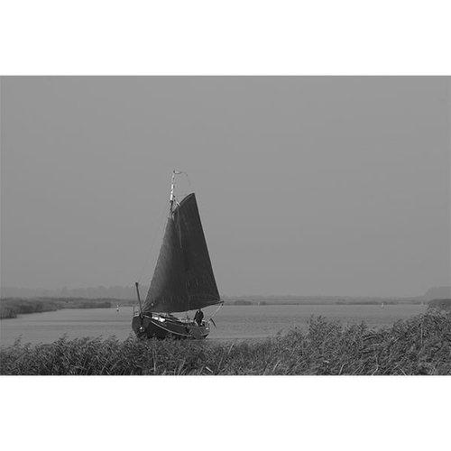 Sweet Living Zwart Wit Schilderij Canvas Boot
